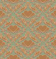 Retro Seamless Pattern with Decorative Hearts vector image