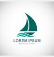sailing boat yacht logo vector image vector image