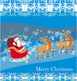 Santa Claus and reindeer - Abstract Christmas card vector image vector image