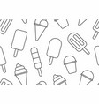 seamless pattern with different ice cream vector image