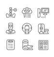 Set line icons of magnetic resonance imaging vector image vector image