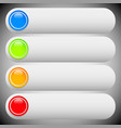 set of colorful button banner backgrounds bars vector image vector image