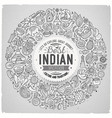 set of indian cartoon doodle objects vector image vector image