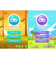 set of main menu with buttons vector image