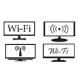 set screens on a white background vector image vector image