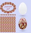 set with easter eggs and design elements in the vector image vector image