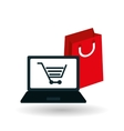 shopping cart and bag design vector image vector image