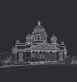 sketch cathedral in st petersburg vector image vector image
