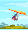 skydiving sport flat poster vector image vector image