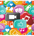 Social media colorful pattern vector image vector image