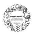trauma or injury rehabilitation orthopedics line vector image vector image