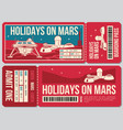 Travel voucher ticket holiday on mars