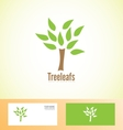 Tree leafs logo icon nature bio vector image vector image