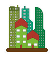 urban city buildings view cartoon vector image vector image