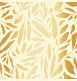 variety of gold foil hand drawn leaves scattered vector image