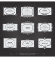 Vintage filigree frames set on chalkboard vector image vector image