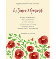 Wedding invitation cards with watercolor elements vector image