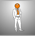 businessman with orange key on his head vector image