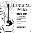 Guitar music poster Hand drawn vector image