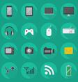 Technology Flat Icon Set vector image
