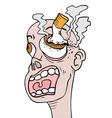 cigar in eye vector image