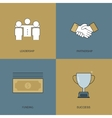 modern flat design of business vector image