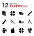 12 patch icons vector image vector image