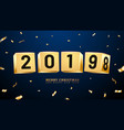 2019 happy new year and merry christmas or x-mas vector image vector image