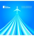 Airplane over blue background vector image vector image