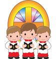 altar boys vector image