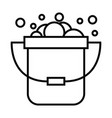 basket foam toilet bathroom cleaning icon with vector image vector image
