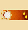 beautiful islamic banner background with copy