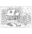 black and white christmas and new year card vector image