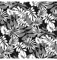 black and white tropical foliage seamless pattern vector image vector image