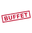 Buffet rubber stamp vector image