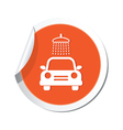 car wash simbol orange tag vector image