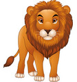 cartoon lion mascot isolated on white background vector image vector image