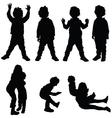 children set silhouette vector image vector image