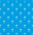 dash pattern seamless blue vector image