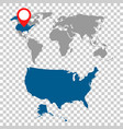 detailed map of usa and world map navigation set vector image vector image