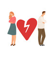 divorce concept ex couple characters vector image vector image