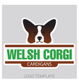 dog head of welsh corgi breed vector image vector image
