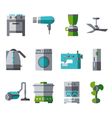 Domestic Equipment colored icons with half shadow vector image vector image