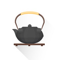 flat asian tea iron kettle icon vector image vector image
