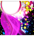flying stars background vector image vector image