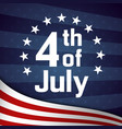 fourth of july retro poster template vector image vector image