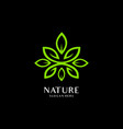 green leaf ecology nature element icon vector image vector image