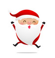 happy christmas character santa claus cartoon 011 vector image vector image
