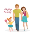 Happy family with cheerful smile vector image