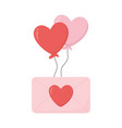 happy valentines day romantic message envelope and vector image vector image